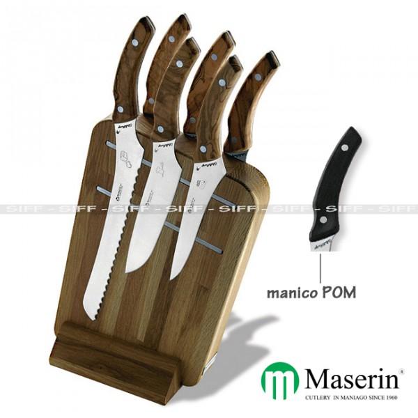 Ceppo coltelli cucina maserin da 6 pezzi magnetic siff - Kit coltelli da cucina ...